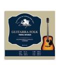 Jogo de Cordas Dragão 045 para Guitarra Folk 6 Cordas 1200