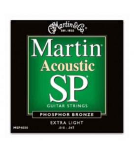 Jogo Cordas Martin MSP4000 para Guitarra Folk Phosphor Bronze 010