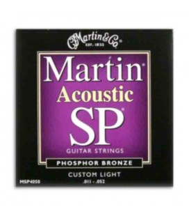 Jogo Cordas Martin MSP4050 para Guitarra Folk Phosphor Bronze 011