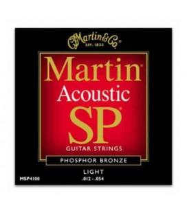 Jogo de Cordas Martin MSP4100 para Guitarra Folk Phosphor Bronze 012