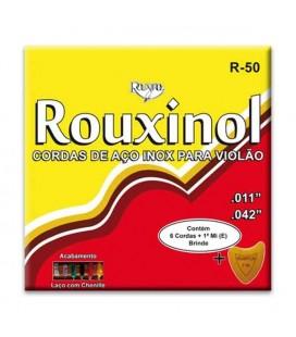 Jogo de Cordas Rouxinol R50 Inox com Asa para Guitarra Acústica Aço