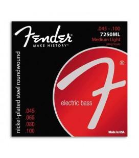 Juego de Cuerdas Fender 7250ML para Bajo 45 100