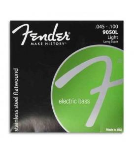 Jogo de Cordas Fender 9050L para Baixo Flat Wound Long Scale 045 100