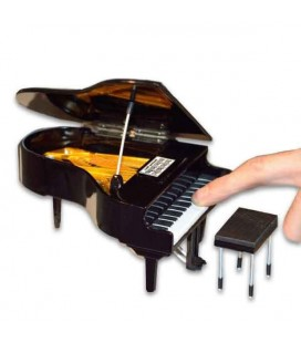 Miniatura Collection MIN 0139 Piano de Cauda com Banco