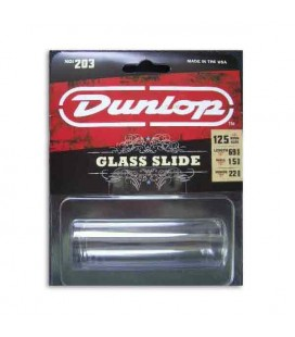 Slide Dunlop 203 para Guitarra Transparente Regular Large