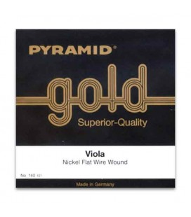 Pyramid Viola Strings Set Gold 140100