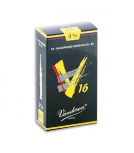 Palheta Vandoren SR7135 para Saxofone Soprano V16 nº 3 1/2