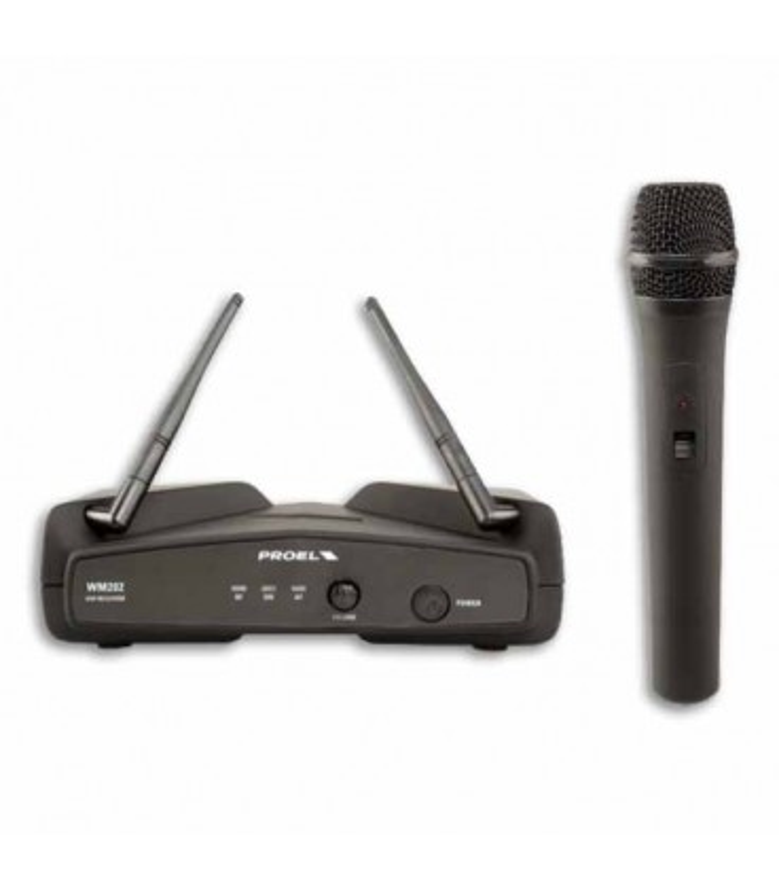 Microfone Sem Fio Proel WM202M Wireless UHF Handheld De m達o