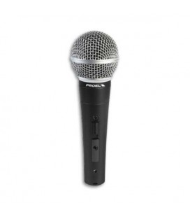 Dynamic Microphone Proel DM580LC with Switch with Cable XLR XLR