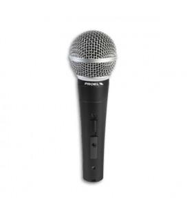 Microfone Proel DM580LC Dinâmico com Interruptor com Cabo XLR
