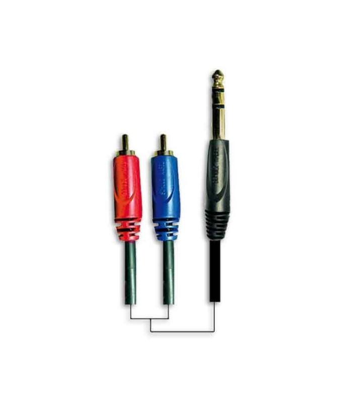 Cable Jack 6.3 Mono RCA GRCA 11 3M