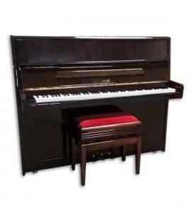 Piano Vertical Sholze Usado 120cm Nogueira