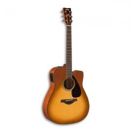 Guitarra Eletroacústica Yamaha FGX800C SDB Abeto Nato Sand Burst