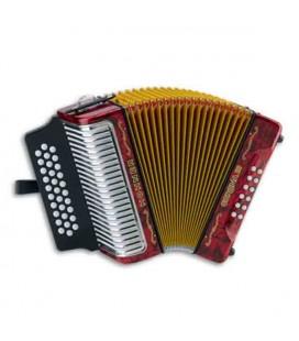 Concertina Hohner 12 Baixos 4 Vozes 3 Vozes Reg Corona III 3522 3