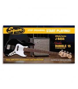 Pack Squier Baixo Affinity Series Jazz Bass Amplificador Rumble 15 Black