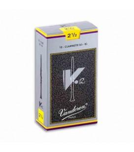 Palheta Vandoren para Clarinete V12 Nº2 1/2 CR1925