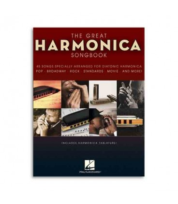 Libro Music Sales The Great Harmonica Songbook HL00821039
