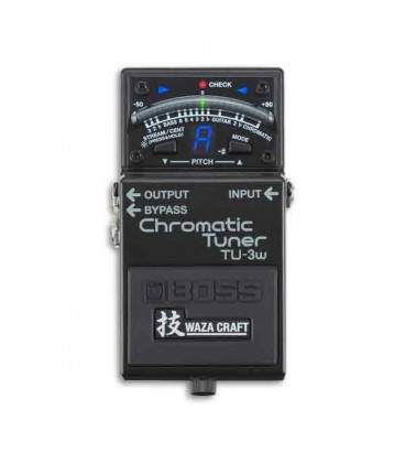 Boss Chromatic Tuner Pedal with Connection to Many Pedals Waza Floor Tuner TU 3W