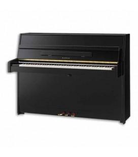 Piano Vertical Kawai K 15 110cm Negro Pulido 3 Pedales