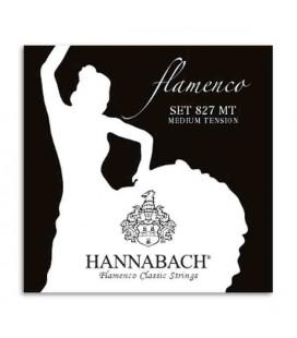 Juego de Cuerdas Hannabach E827MT para Guitarra de Flamenco Nilón Media Tensión