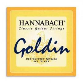 Jogo de Cordas Hannabach Goldin E725MHT para Guitarra Clássica Nylon Tensão Média Alta