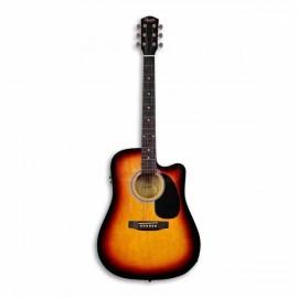Guitarra Eletroacústica Fender Squier SA 105CE Sunburst
