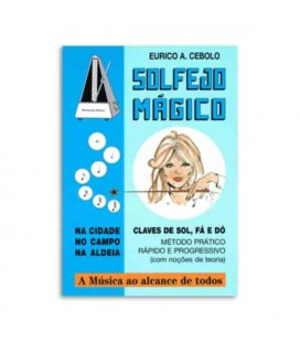 Libro Eurico Cebolo SOL M Método Solfejo Mágico con CD