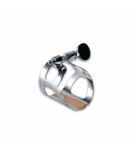 BG Clarinet Ligature L2 Tradition Metal Silver with Cap