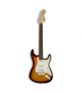 Guitarra Elétrica Fender Squier Standard Stratocaster FMT RW Amber Sunburst