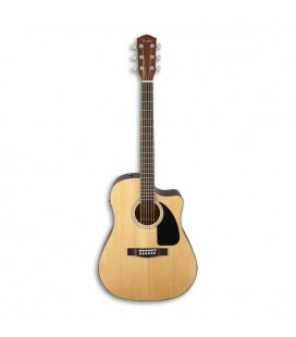 Front photho of Fender Electroacoustic Guitar Dreadnought CD 60SCE Natural