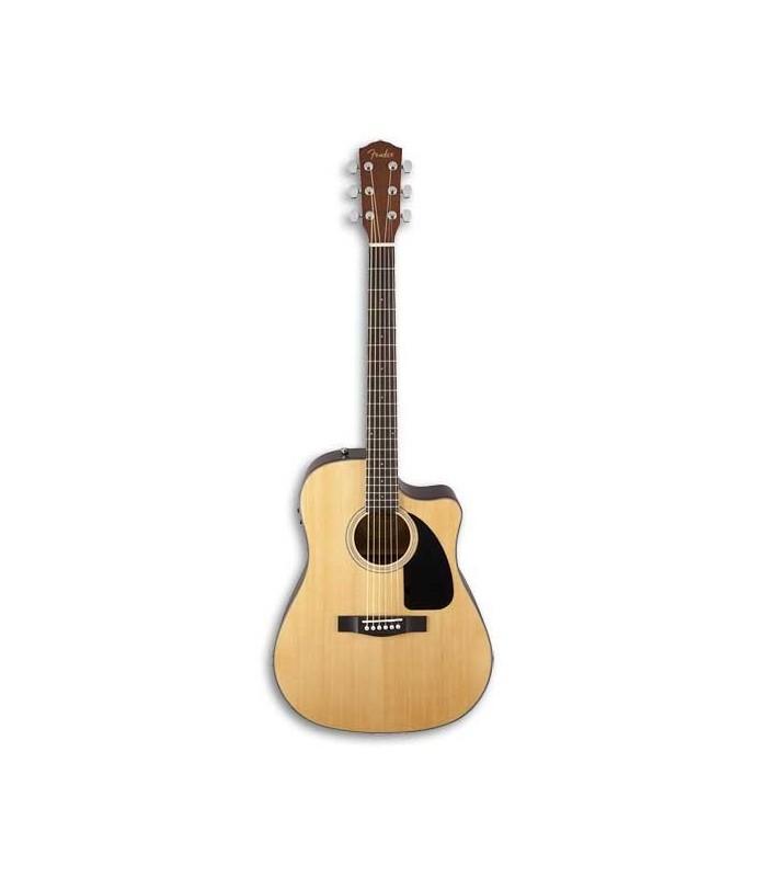 Foto frontal  da Guitarra Eletroac炭stica Fender Dreadnought CD 60SCE Natural