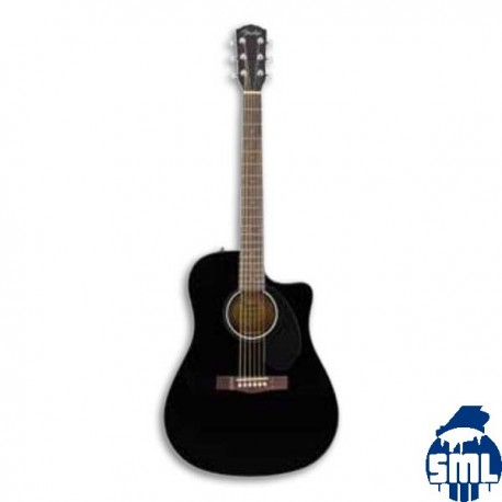 Guitarra Eletroacústica Fender Dreadnought CD 60SCE Black