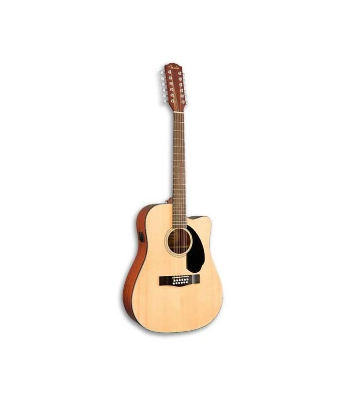Guitarra Eletroacústica Fender Dreadnought CD 60SCE 12 Natural 12 Cordas
