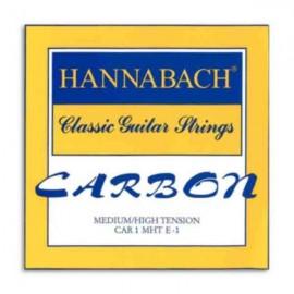 Corda Individual Hannabach ECAR 1 MHT E 1 1a Mi Carbono para Guitarra Clássica