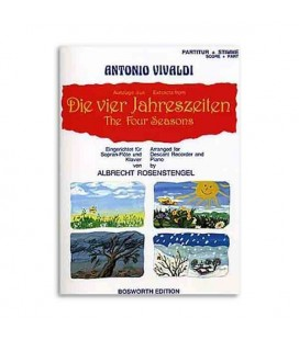 Libro Music Sales BOE4032 The Four Seasons Antonio Vivaldi for Recorder or Piano