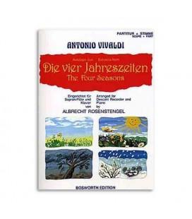 Livro Music Sales BOE4032 The Four Seasons Antonio Vivaldi for Recorder or Piano