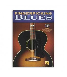 Livro Music Sales HL00701277 Fingerpicking Blues 15 Songs