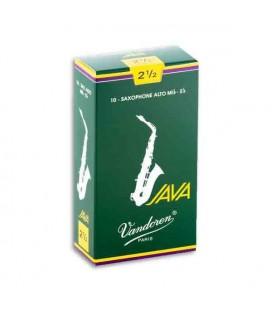 Caña Vandoren SR2625 Java No 2 1/2 para Saxófono Alto