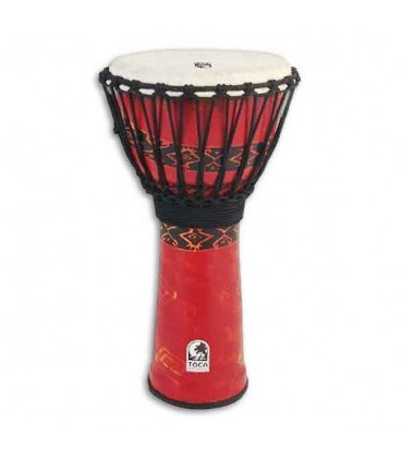 Djembe Toca Percussion SFDJ 7RP Freestyle Rope Tuned Bali Red