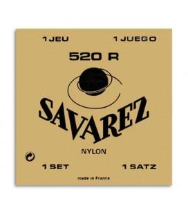 Jogo de Cordas Savarez 520R para Guitarra Clássica Nylon Tensão Alta