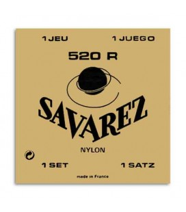 Savarez Classical Guitar String Set 520R Nylon High Tension