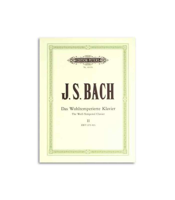 Livro Editions Peters EP4691b Bach Prelúdios e Fugas Volume II