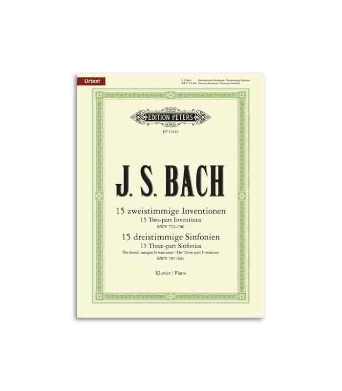Livro Editions Peters EP11422 Bach Invenções Parte II e Sinfonias Parte III