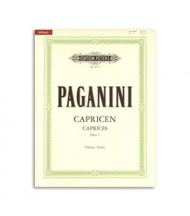 Livro Editions Peters EP9979 Paganini 24 Caprichos para Violino OP1