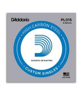 Cuerda Individual Daddário 015 Acero para Guitarra Eléctrica o Acústica