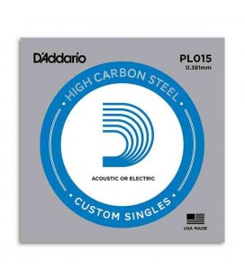 Daddário Electric or Acoustic Guitar Individual String 015 Steel