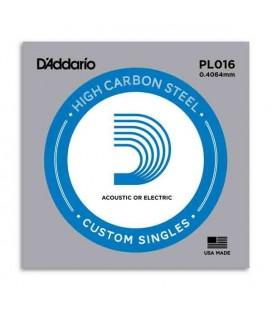 Cuerda Individual Daddário PL016 Si para Guitarra Eléctrica o Acústica Acero