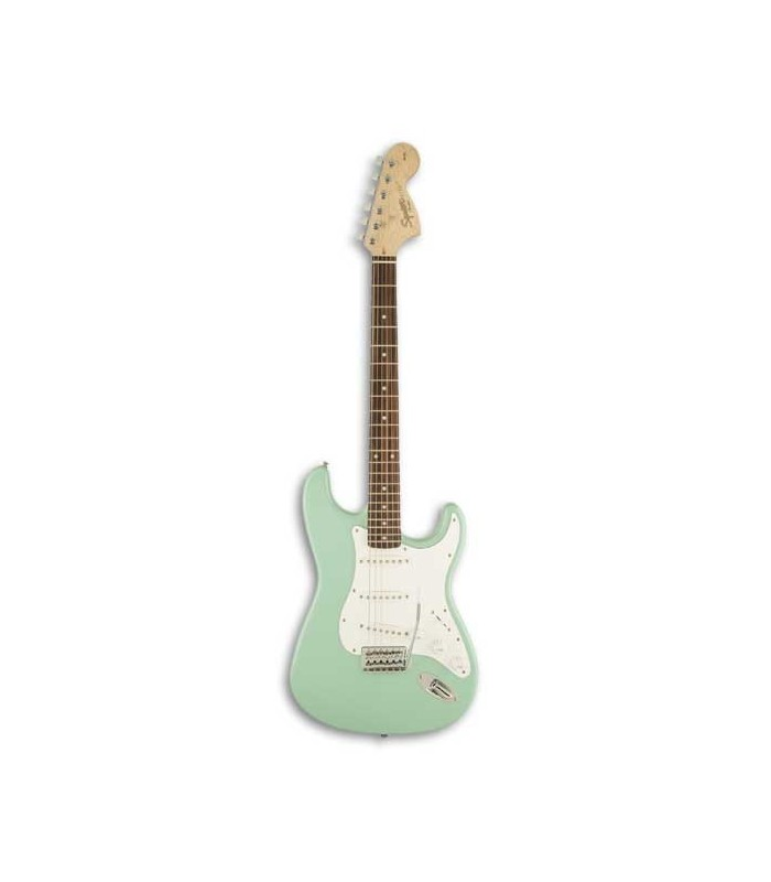 electric guitar fender squier affinity stratocaster il surf green. Black Bedroom Furniture Sets. Home Design Ideas