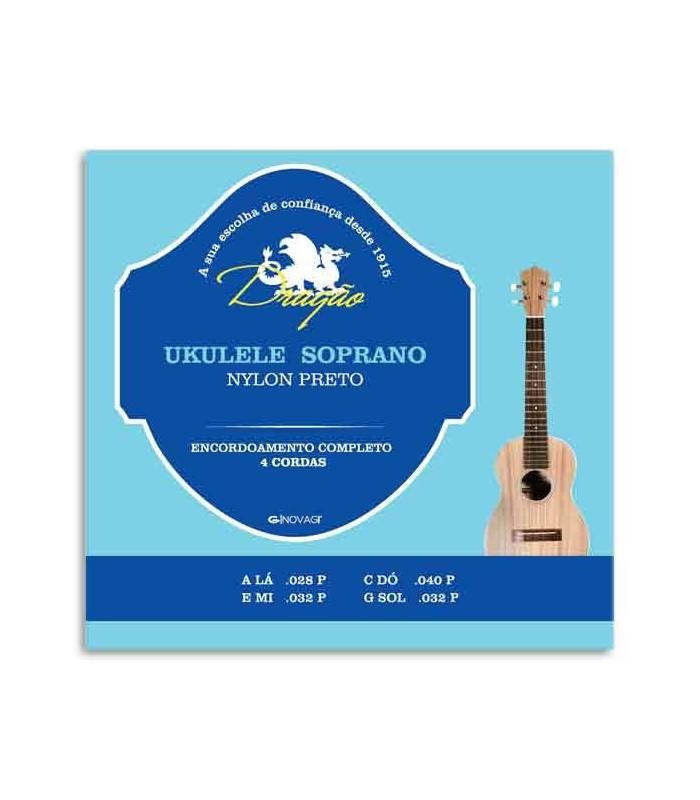 Jogo de Cordas Dragão UK066 para Ukulele Soprano