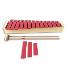 Honsuy Soprano Diatonic Glockenspiel 49020 C to A with Mallets